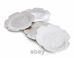 Bordallo Pinheiro Cabbage Beige Dinner Plates, Set of 4