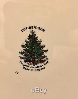 CUTHBERTSON DICKENS ORIG CHRISTMAS EMBOSSED LARGE DINNER PLATE 10 7/8 Set Of 4