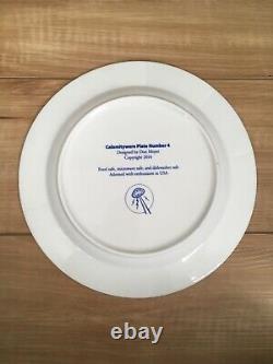 Calamityware 10.5 Dinner Plates Original Series 2013-2014 SET OF 4 PLATES