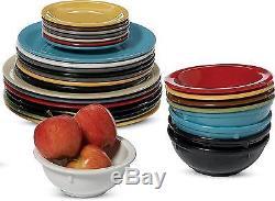Carlisle 4385003 Dayton Melamine Dinner Plates, 10, Black Set of 48