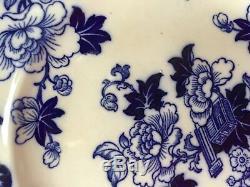 Cauldon CANDIA Flow Blue Dinner Plates Set of 12