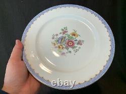 Charles Ahrenfeldt Depose Limoges AHR93 Dinner Plates 9 7/8 Dia Flowers Set 11