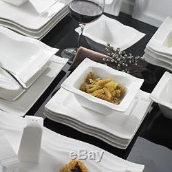 China Dinner Plate Set Christmas Cream White Ceramic Xmas Large Service Kitchen
