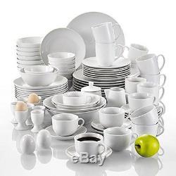 China Porcelain Dinner Set Modern Round Tableware 80 Pcs Service Plates Bowls
