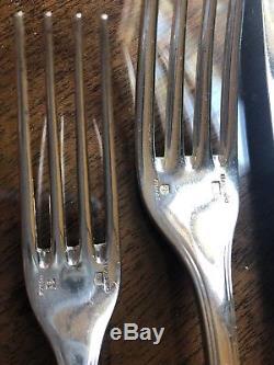 Christofle France America Vintage Silver-plate Flatware Set Dinner 106