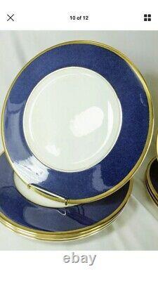 Coalport Athlone Blue Service for 11 Blue Gold Excellent England (50 Pc Set)
