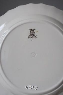 Copeland Spode Patricia Dinner Plates, Set of (8), Yellow Trim
