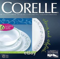 Corelle Country Cottage 18pc Dinner Set Plate Bowl Service For 6 Dishes Dinner