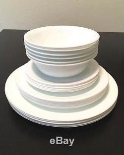 Corelle Dinnerware Set 76 Piece Dinner Set 12 Plates Bowls Dishes Kitchen White