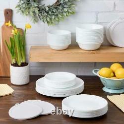 Corelle Livingware 66-Piece Dinnerware Set, Winter Frost White