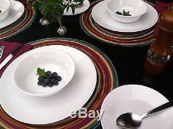 Corelle Winter Frost White 26pc Dinner Set Plate Bowl Cup Soup Service For 6