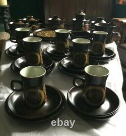 DENBY ARABESQUE VINTAGE part dinner set plates bowls plates etc 31 pieces