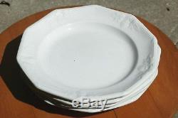 Davenport English Ironstone Fig Shape 9 Salad Plate Dinner Plate Set of 4 1856