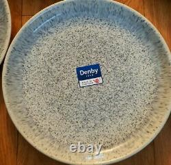 Denby Halo Speckle Coupe Dinner Plates Set Of 6