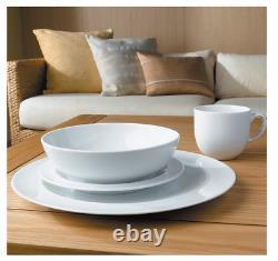 Denby white 16 piece dinner set, BNIB, 4x dinner medium plate cereal pasta bowl
