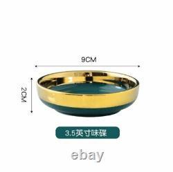Dinner Plate Set Ceramic Dinnerware Kitchen Dishes Modern Elegant 25 Pcs/Lot New