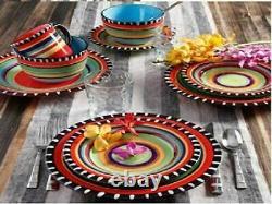 Dinnerware 16 Pieces Complete Dinner Service Tex Mex Fiesta Dining Plateware Set