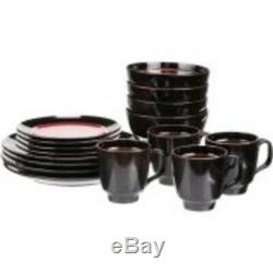 Dinnerware Set 32 Piece Dish Plate Sets for 8 Dinner Tableware Plates and Bowls