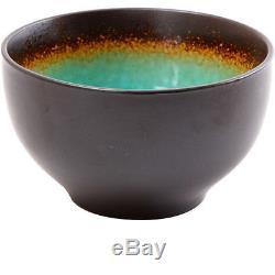 Dinnerware Set 32-Piece Turquoise Stylish Plates Bowls Mugs Kitchen Dinner NEW