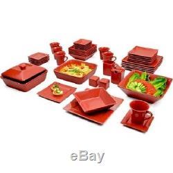 Dinnerware Set Square Dishes 45-Piece Banquet Dinner Plates Kitchen Bowls NEW