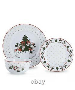 Disney Mickey Minnie Mouse Christmas Dinnerware Dinner Set Plates Bowls Side 12