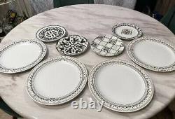 Disney Parks Homestead Collection 8 dinner Plate Set Ceramic