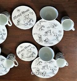 Disney Sketchbook MICKEY MOUSE 16 piece set Dinner Plates Salad Plates Bowls Mug