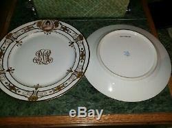Dresden Ambrosius Lamm cameo portrait dinner plates (set of 12), Circa 1900