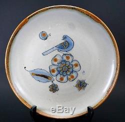El Palomar Ken Edwards KE Dinner Plate Tonala Mexico Blue and Brown Set of 4 (D)