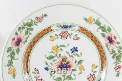 Excellent Set 6 Dinner Plates Vintage Heinrich China Parnass Blue Rust Flowers