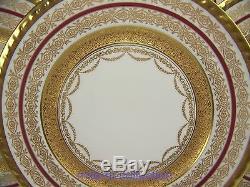 Exquisite Limoges Gold Encrusted Dinner Plates Set Of 6