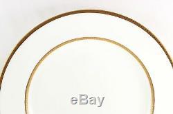 Fab Antique Set 11 Dinner Plates Wedgwood Bone China X7000 Raised Gold Encrusted