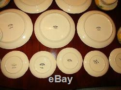 Franciscan Poppy Dinner Plate Bread Dessert Coffee Cup & Saucer Set of 6 Setting
