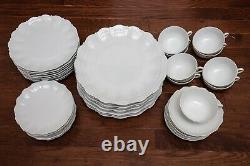 Giraud Limoges Corail White 45 Piece 9 Place Settings Dinner Salad Bread Plate