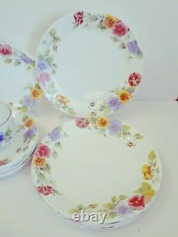 Gorgeous 21 pc Corning Corelle Summer Blush Dinner Set Plates Sugar Bowl Teapot+