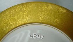 HEINRICH china GOLDEN GRAPEVINE hc999 pattern DINNER/SERVICE PLATE set of 12