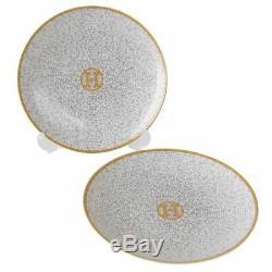HERMES Porcelain Mosaique Bread Butter Plate set Tableware Ornament 026012P2 New