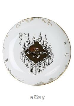 Harry Potter Marauder's Map Porcelain 16 Piece Set 4 Dinner Plates, 4 Salad Pl