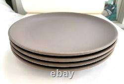 Heath Ceramics Set of 4 Coupe Dinner Plates Cocoa Fawn. Preowned Mint