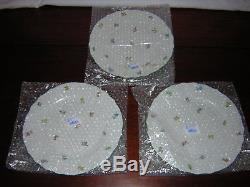 Herend Hungary Lindsay set of 8 dinner plates UNUSED New