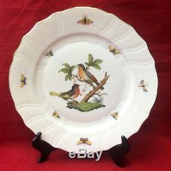 Herend Porcelain Set of 6 Rothschild Bird 10.25 Dinner Plate #1524 Butterflies