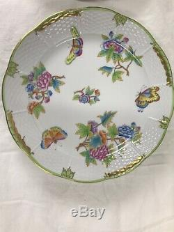 Herend Queen Victoria Dinner PlatesSet Of Eight