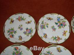 Herend Queen Victoria dinner plate set of 6. #524VBO, 10