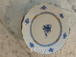 Herend chinese bouquet blue 10 dinner plates set of10