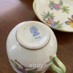 Herend queen Victoria dinner Tea Cup Plate set 45 piece Original Vintage Estate