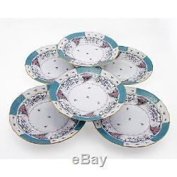 Hungarian Porcelain Herend Cornucopia Decor Dinner Plates Set of Six