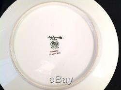 Hutschenreuther 22K GOLD ENCRUSTED SET of 12 DINNER PLATES FLORAL CENTER Bavaria