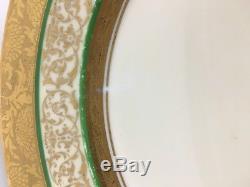 Hutschenreuther Royal Bavarian set of 6 gold encrusted dinner plates BR09/17