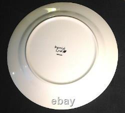 Imperial Leaf China TOBACCO LEAF 10.75 SET of 8 DINNER PLATES Excellent