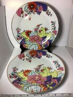 Imperial Leaf China Tobacco Leaf Dinner Plates. Set Of 6 Plates. 22k Gold Trim